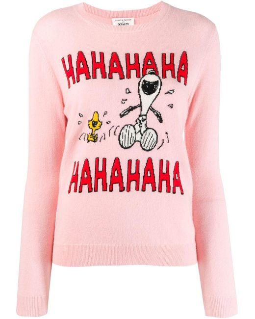 Chinti & Parker Snoopy セーター Pink