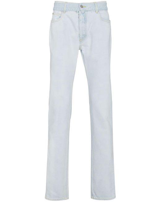 Maison Margiela Blue Super Bleach Slim Jeans for men