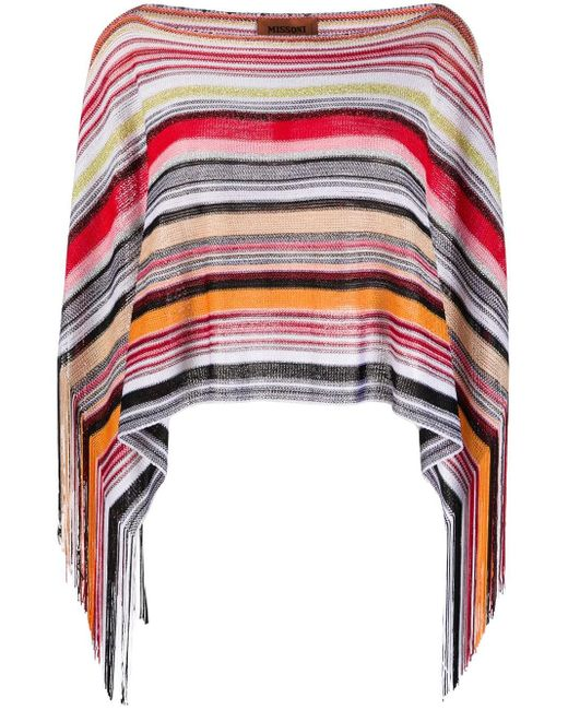 Châle à motif zig zag Missoni en coloris Red