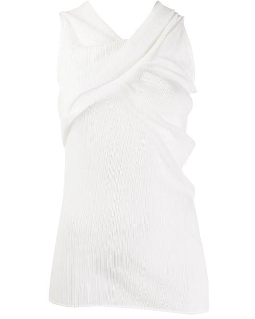 Top con tiras cruzadas en el cuello Nina Ricci de color White