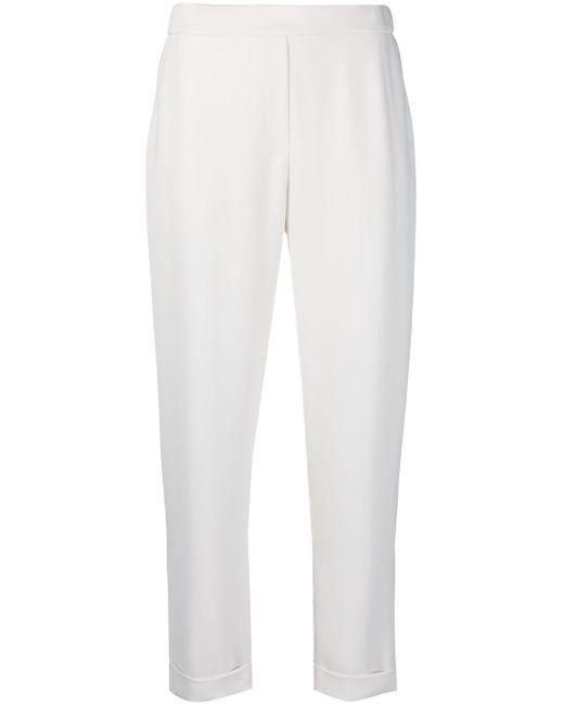 Pantaloni crop Pany di P.A.R.O.S.H. in White
