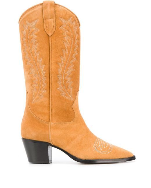 Paris Texas Texan ステッチディテール ブーツ Yellow