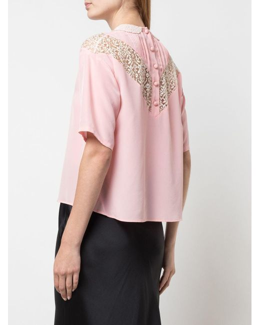 Blusa di Marc Jacobs in Pink