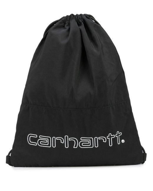 Carhartt WIP Black Rucksack mit Kordelzug