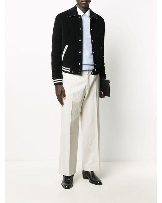 メンズ Saint Laurent コーデュロイ ボンバージャケット Black