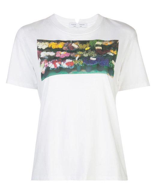 PROENZA SCHOULER WHITE LABEL プリント Tシャツ White