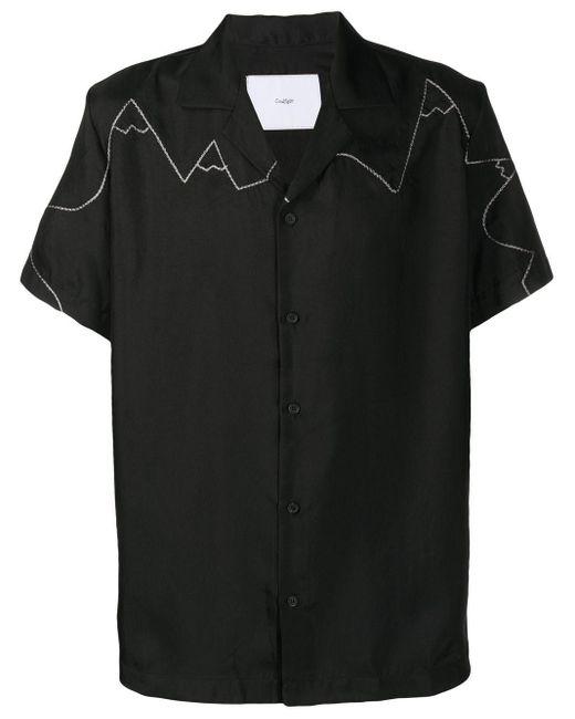 メンズ Goodfight ステッチ ボウリングシャツ Black
