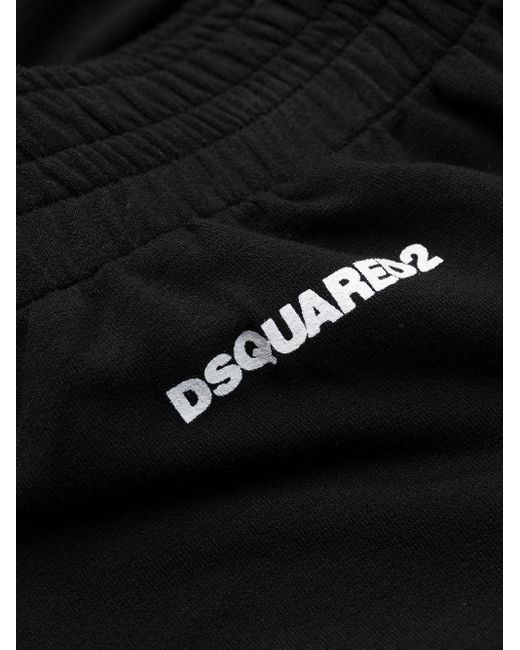 DSquared² ロゴプリント トラックパンツ Black