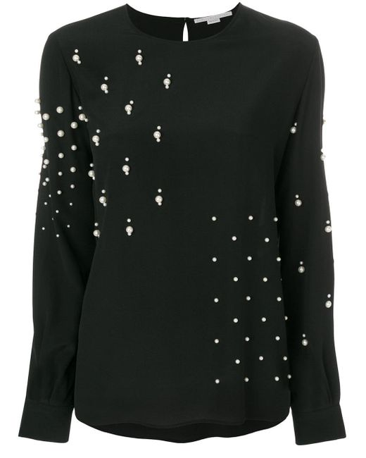 Stella McCartney シルク ブラウス Black