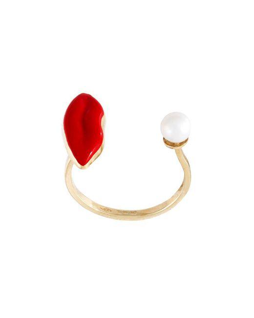 Delfina Delettrez | Metallic 'lips Piercing' Ring | Lyst
