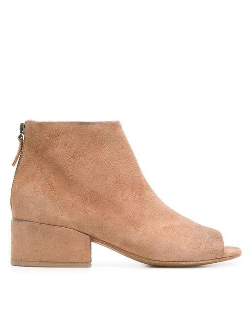 Marsèll Multicolor Open Toe Ankle Boots