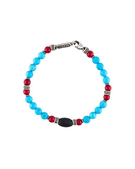 Roman Paul - Green Beaded Bracelet for Men - Lyst
