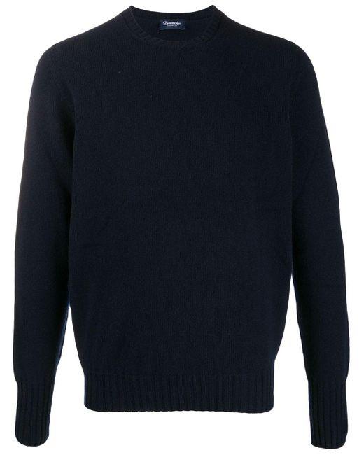 Jersey con cuello redondo Drumohr de hombre de color Blue