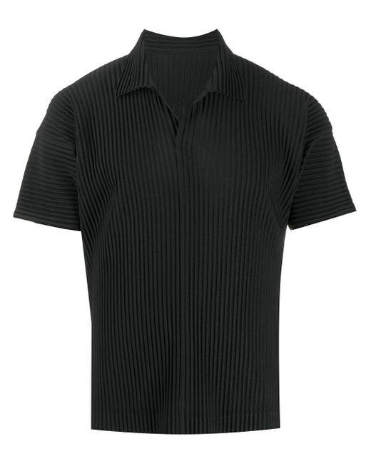 メンズ Homme Plissé Issey Miyake プリーツ ポロシャツ Black