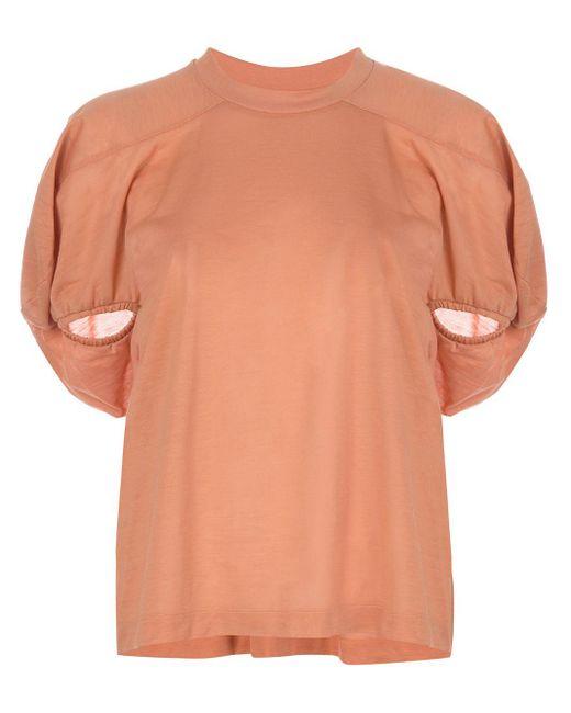 Marques'Almeida パフスリーブ Tシャツ Pink