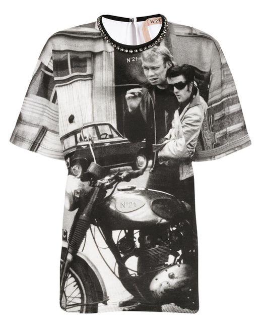 N°21 プリント Tシャツ White