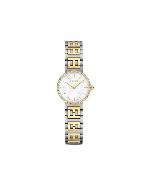 Orologio Forever 29 mm di Fendi in White