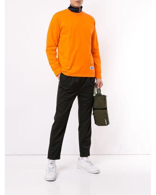 メンズ Supreme ロングスリーブ トップ Orange
