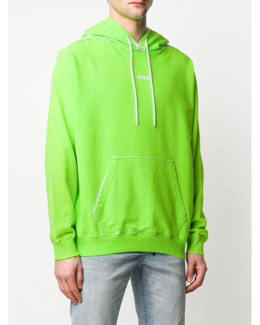 Худи С Логотипом MSGM для него, цвет: Green