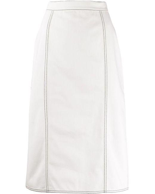 Юбка С Плиссировкой Alexander McQueen, цвет: White