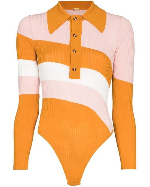 Body Hera con design color-block di Dodo Bar Or in Orange