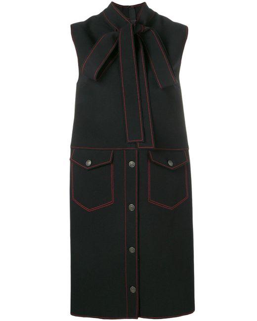 MSGM コントラストステッチ ドレス Black
