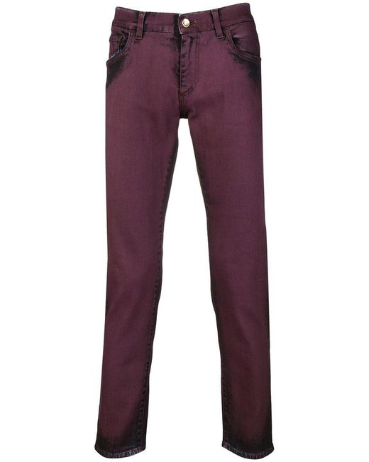 Dolce & Gabbana - Red Distressed Slim Fit Jeans for Men - Lyst