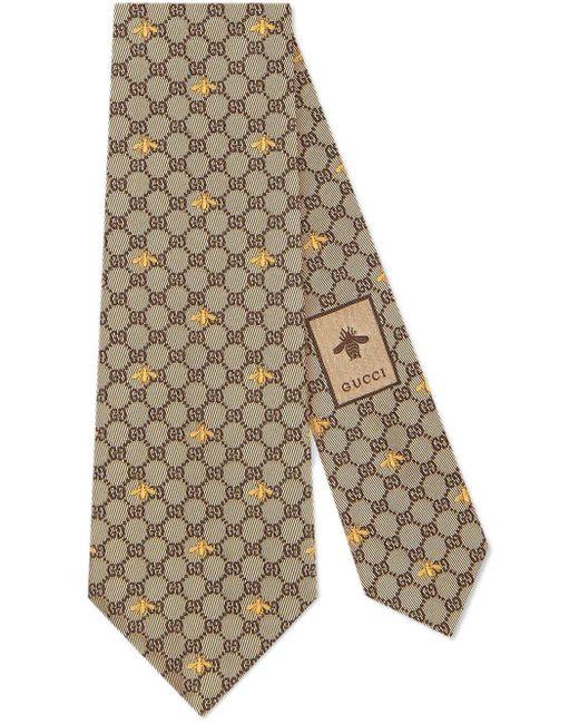 Cravate en soie à motif GG et abeilles Gucci pour homme en coloris Multicolor