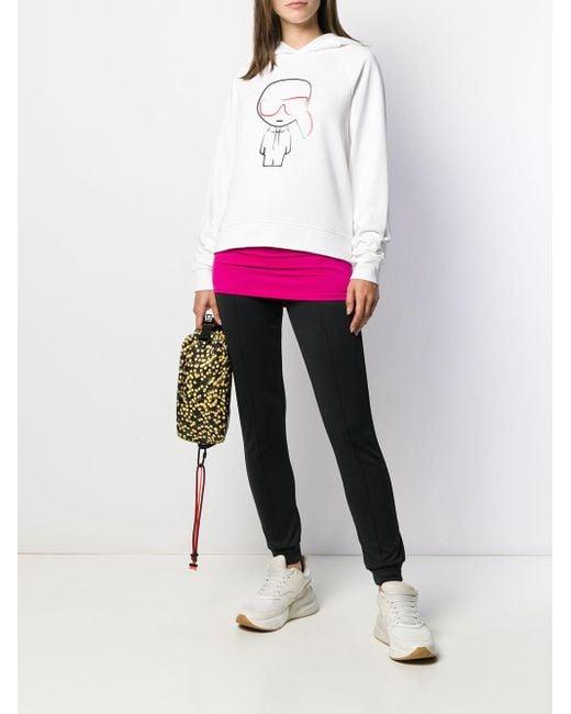 Худи Ikonik Karl Karl Lagerfeld, цвет: White