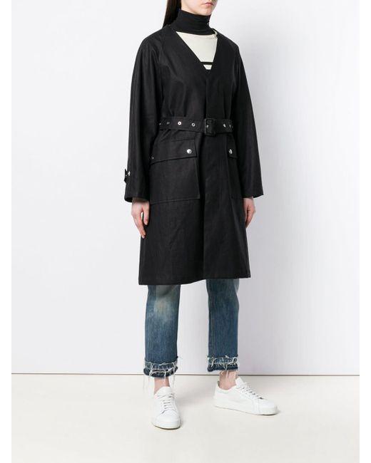 Mackintosh ストームシステム リネン Vネック コート Lm-096b Black