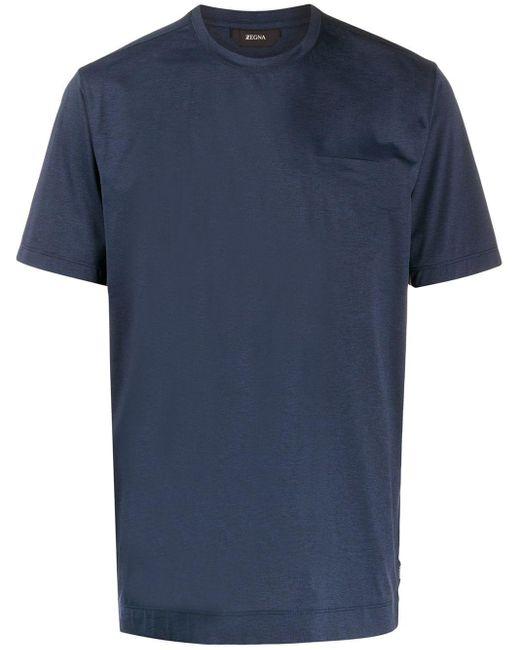 メンズ Z Zegna クルーネック Tシャツ Blue