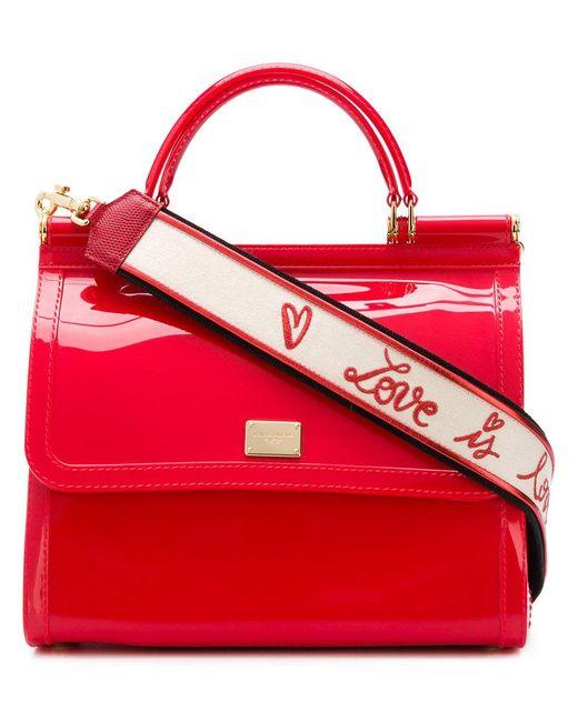 Dolce   Gabbana - Red Sicily Shoulder Bag - Lyst ... 6a37bb228c