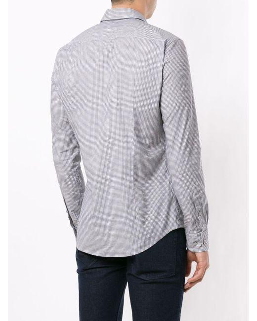 メンズ BOSS by Hugo Boss ジオメトリック ボタンシャツ White
