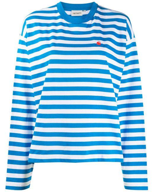 Carhartt WIP ストライプ ロングtシャツ Blue