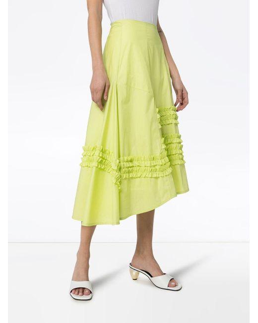 Molly Goddard フリル パネル スカート Yellow