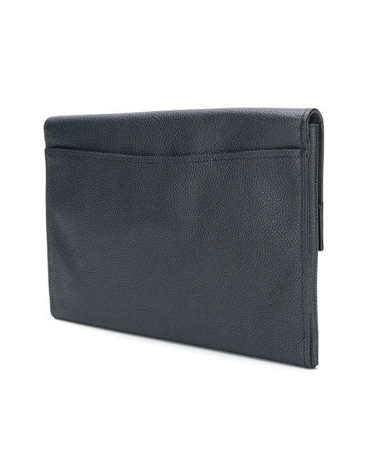 foldover top clutch bag - Blue Coach PxQXA