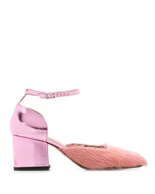 Marni バックル パンプス Pink