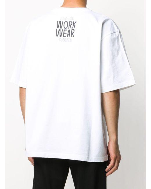 メンズ Heron Preston Work Wear Tシャツ White