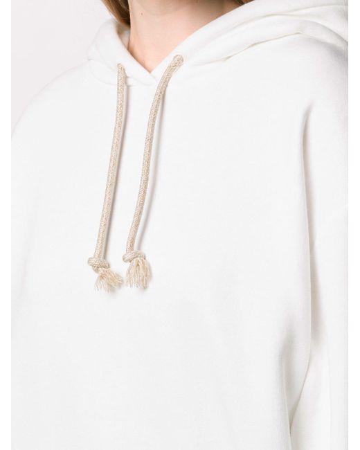 Худи Оверсайз С Приспущенными Плечами Acne, цвет: White