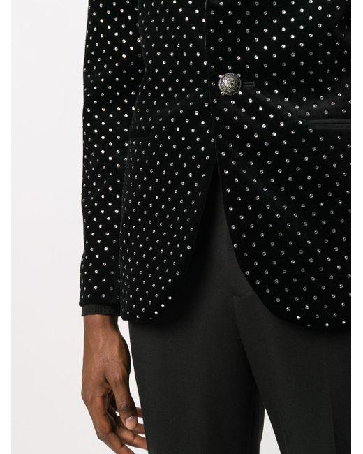 メンズ Balmain ショールラペル ジャケット Black