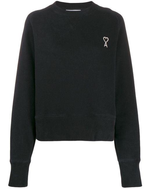 AMI ロゴ スウェットシャツ Black