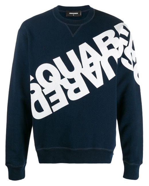 メンズ DSquared² ロゴ スウェットシャツ Blue