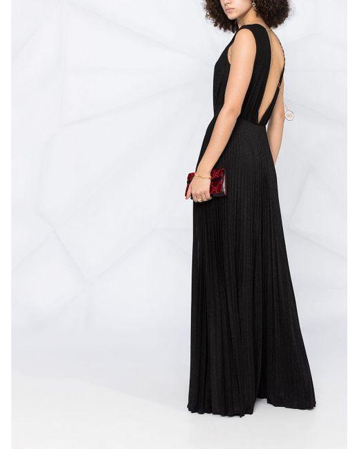 Плиссированное Платье С Блестками Elisabetta Franchi, цвет: Black