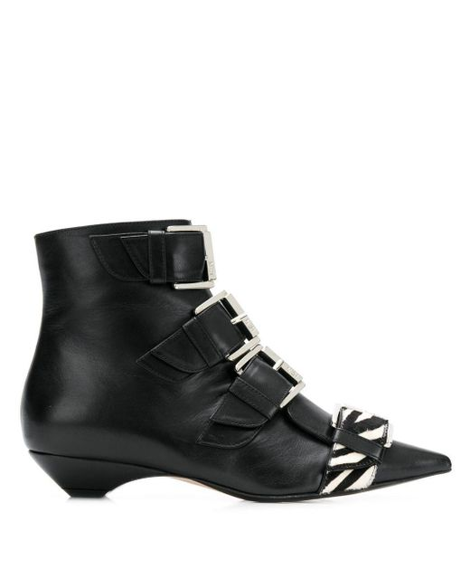 N°21 ゼブラ ブーツ Black