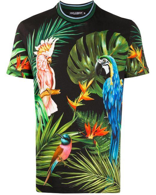 メンズ Dolce & Gabbana プリント Tシャツ Green