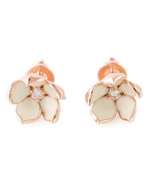Shaun Leane Metallic 'cherry Blossom' Diamond Earrings