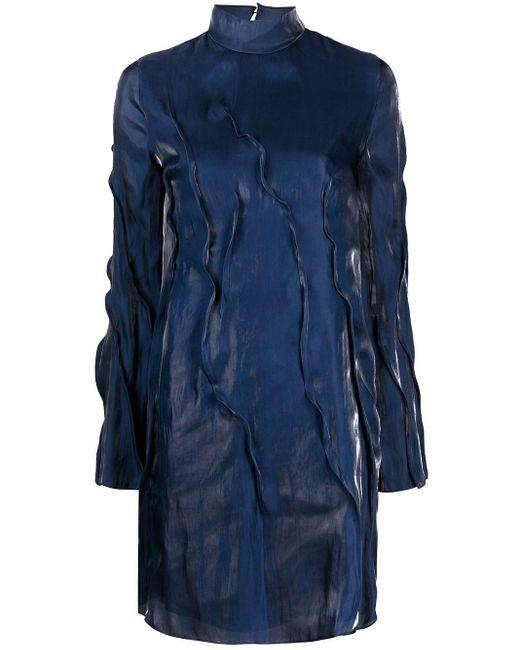 KENZO Wave プリーツドレス Blue
