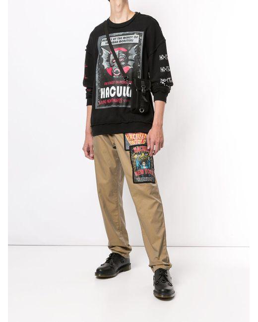 メンズ Haculla ロゴ スウェットシャツ Black