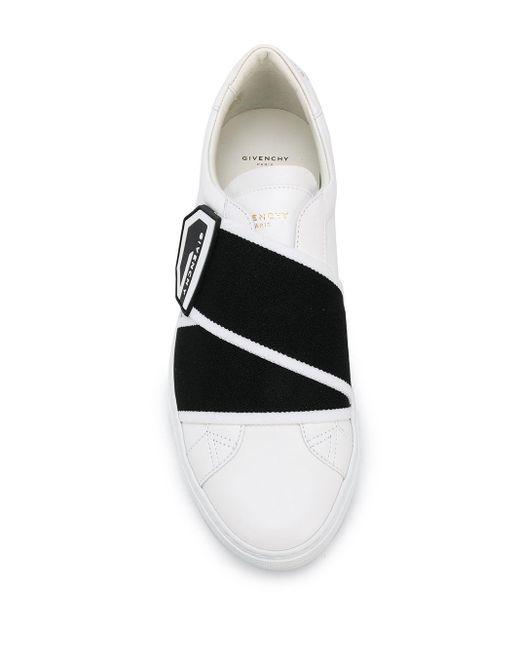 メンズ Givenchy ロゴストラップ スニーカー White