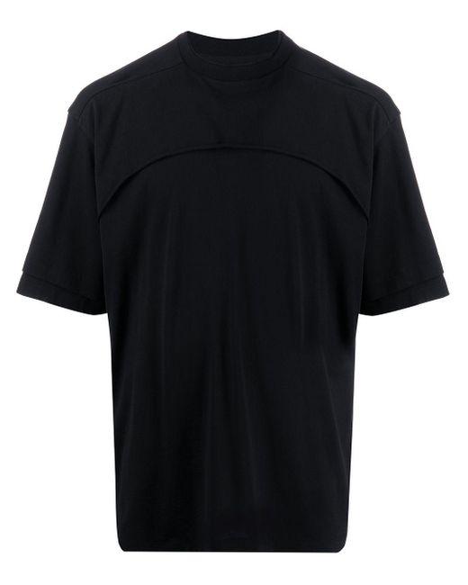 メンズ Unravel Project レイヤード Tシャツ Black
